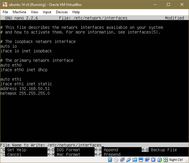 ubuntu network interfaces