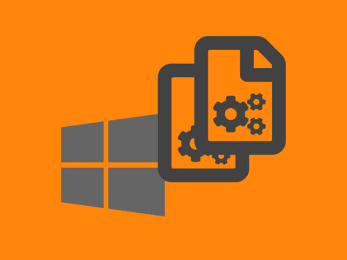 Windows Batch backup files.