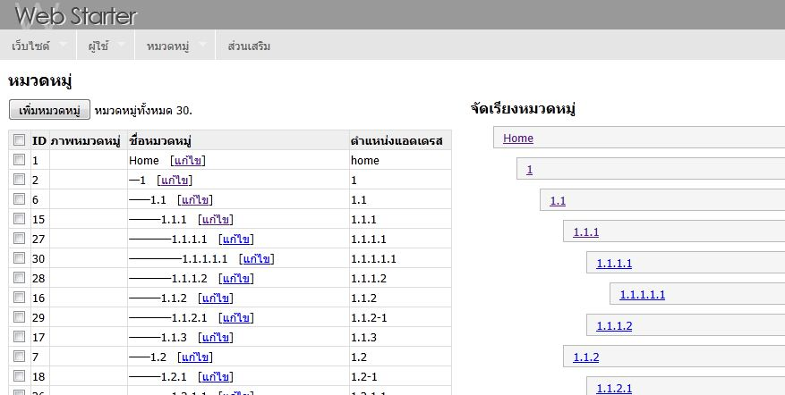 okvee web start category module