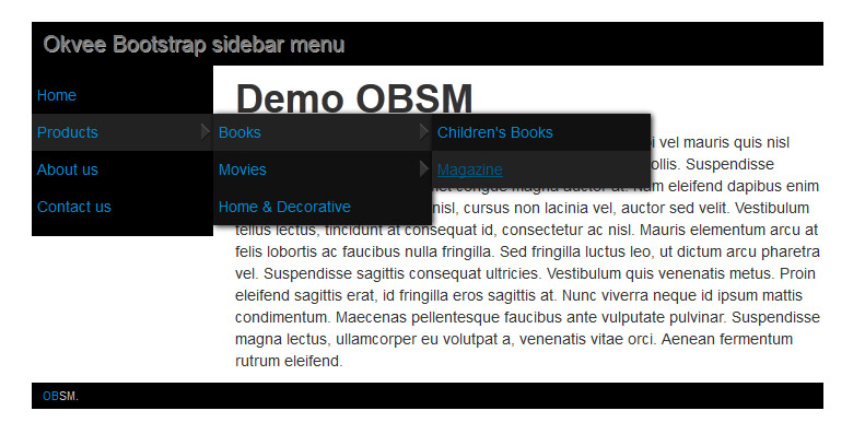 bootstrap 2 sidebar menu