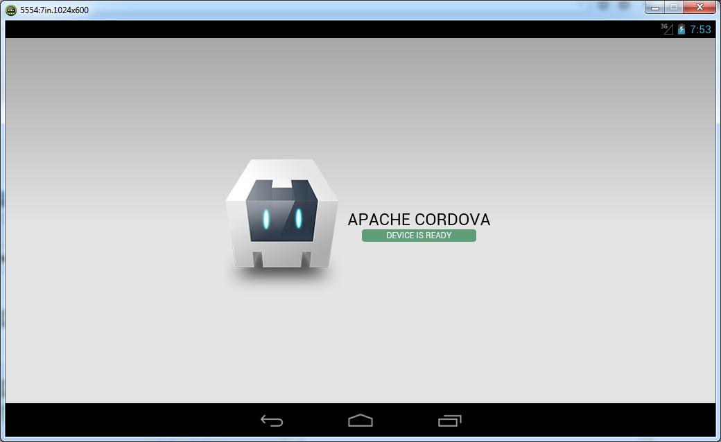 android emulator app runing